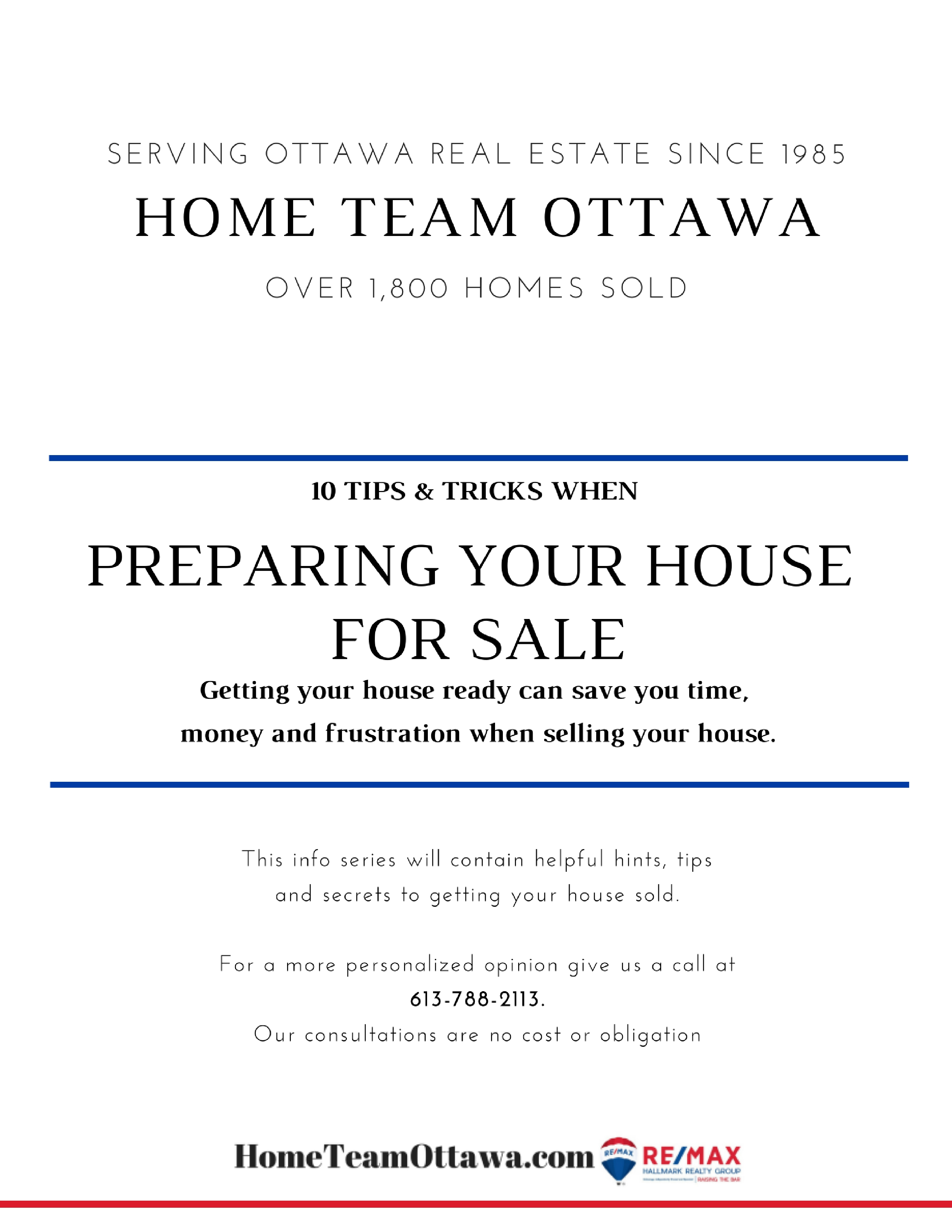 Download your free report: 10 Tips & Tricks when Preparing Your Home for Sale